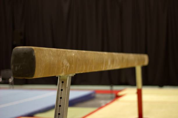 gymnastic equipment - balance beam stock photos and pictures