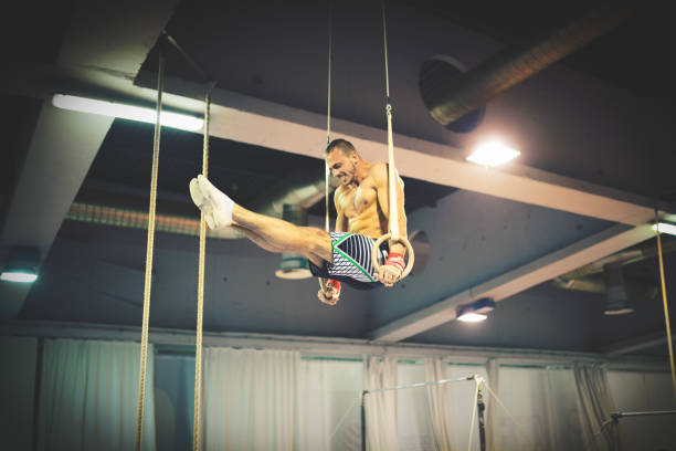 Best Gymnastic Rings Equipment Stock Photos, Pictures