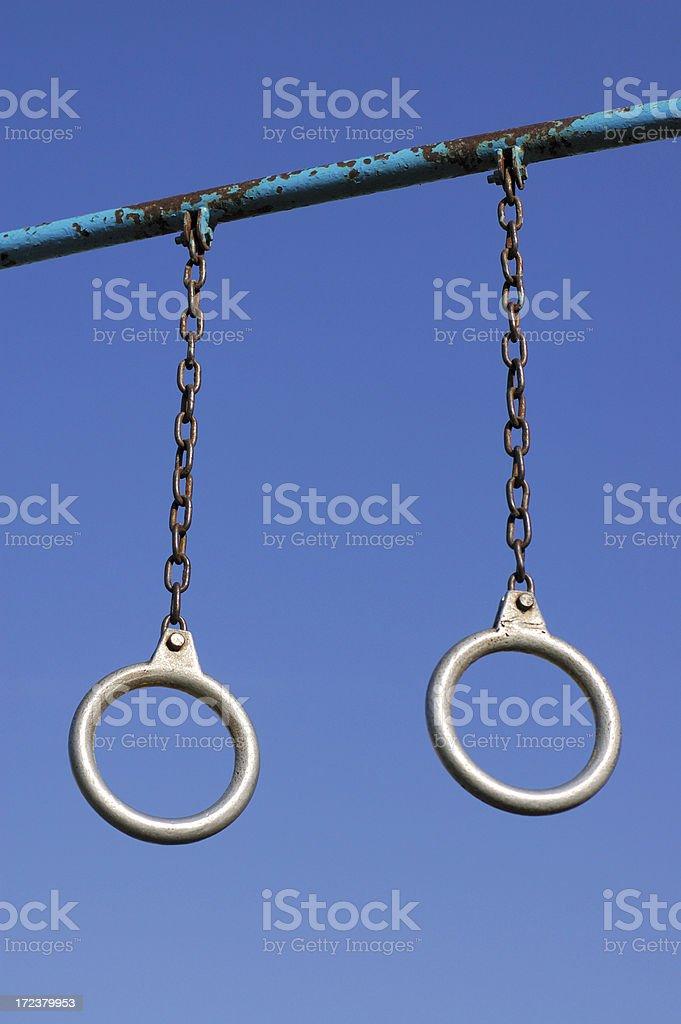 Gymnastic Rings stock photo