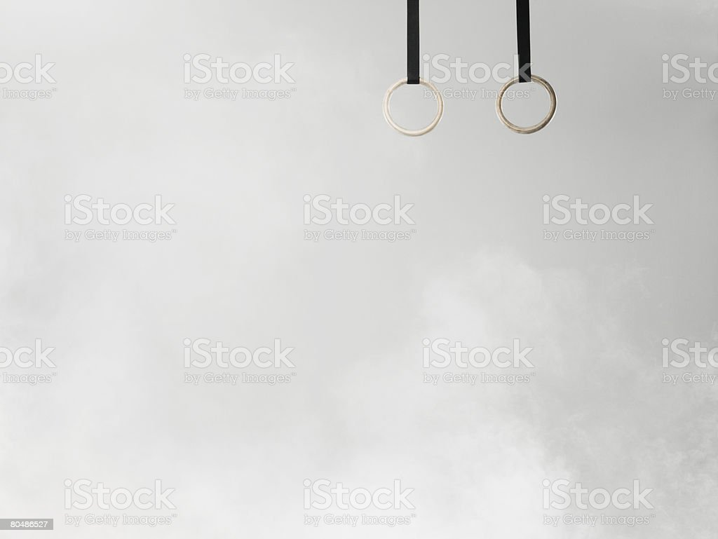 Gymnastic rings royalty-free stock photo