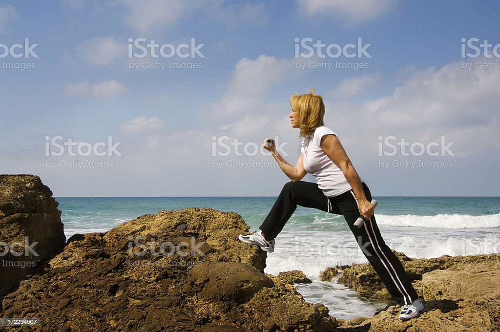 Gymnastic woman royalty-free stock photo