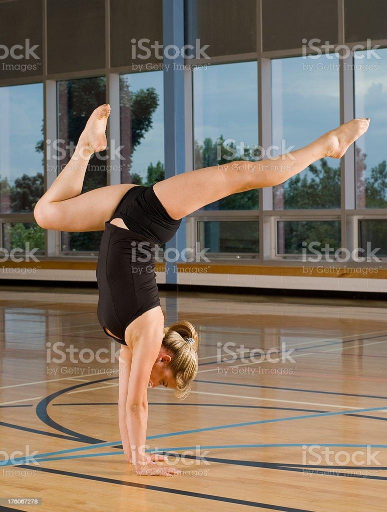 Gymnastics Handstand royalty-free stock photo