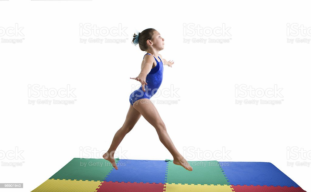 Gymnastics Jump royalty-free stock photo