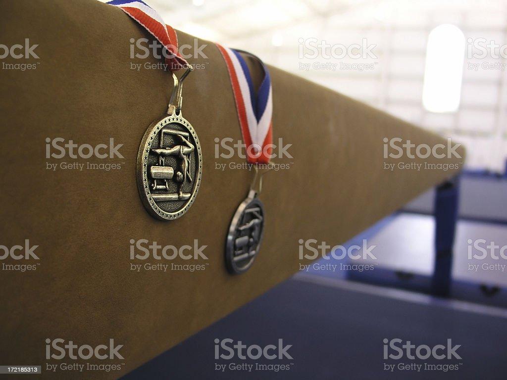 gymnastics medals royalty-free stock photo