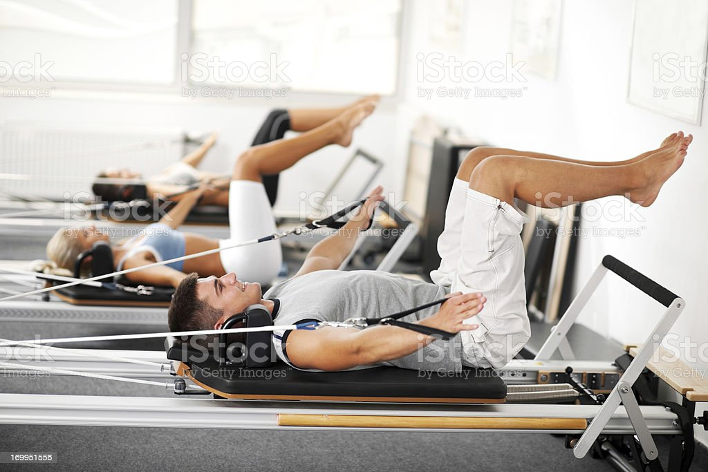 Gymnastics Pilates stock photo