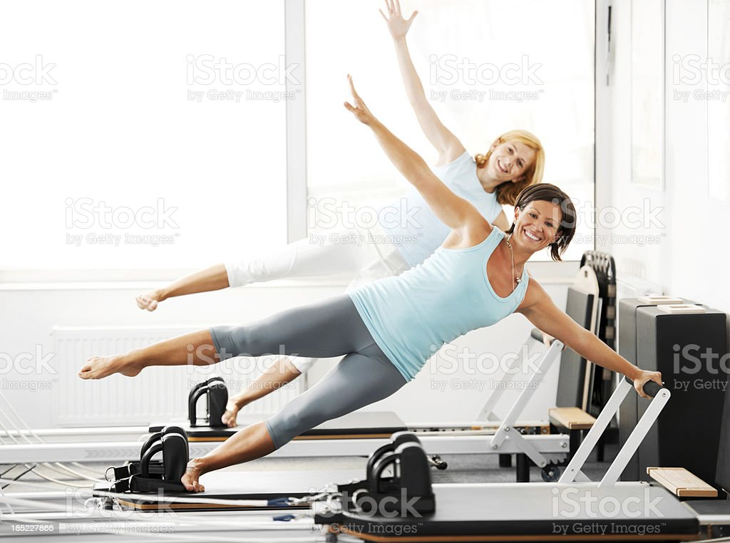 Gymnastics Pilates. stock photo