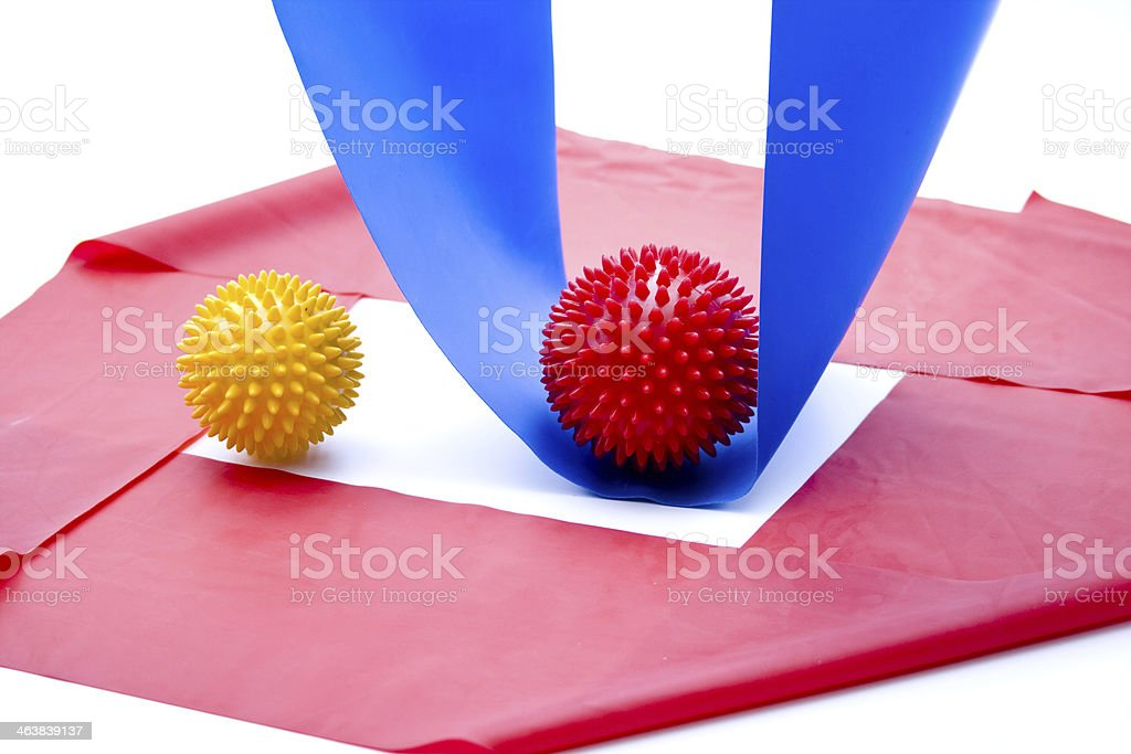 Gymnastics tape and sting ball stock photo