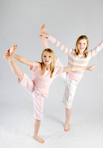 gymnasts - foot stock photos and pictures