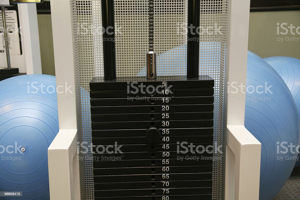 Gyms Weight Rack royalty-free stock photo