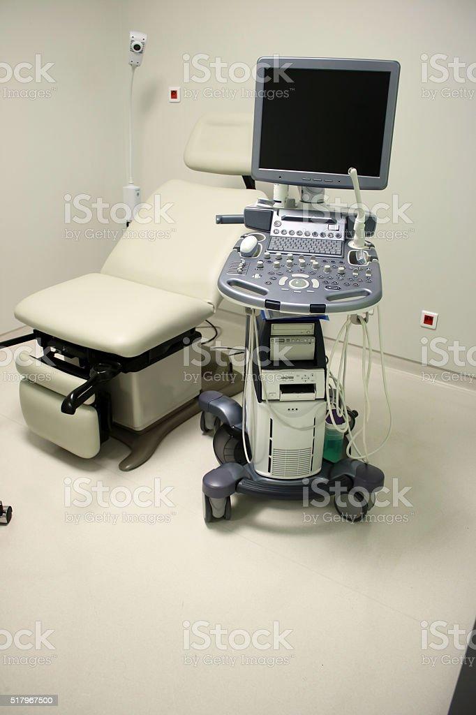 Gynecological examination stock photo