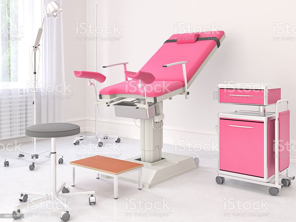 Gynecological room stock photo