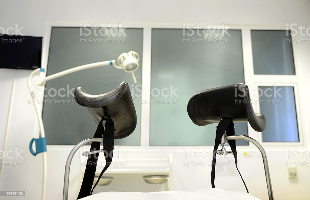 Gynecological table stock photo