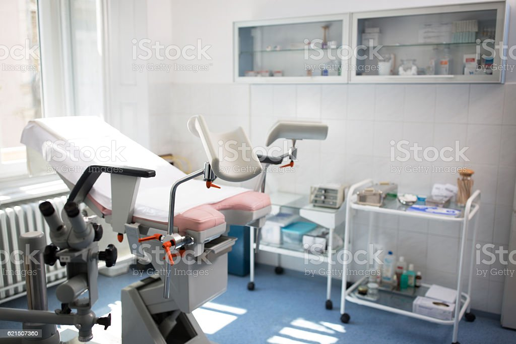 Gynecologist clinic, beautiful white office foto stock royalty-free