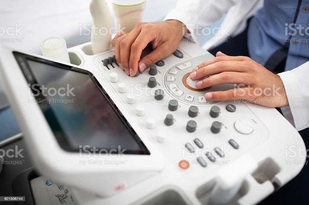 Gynecologist clinic examination Lizenzfreies stock-foto