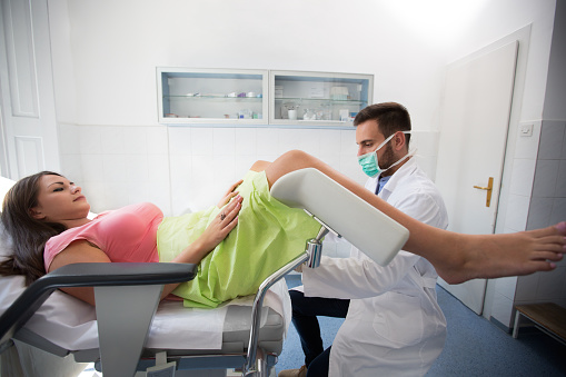 Gynecologist Clinic Examination Stock Photo - Download Image Now
