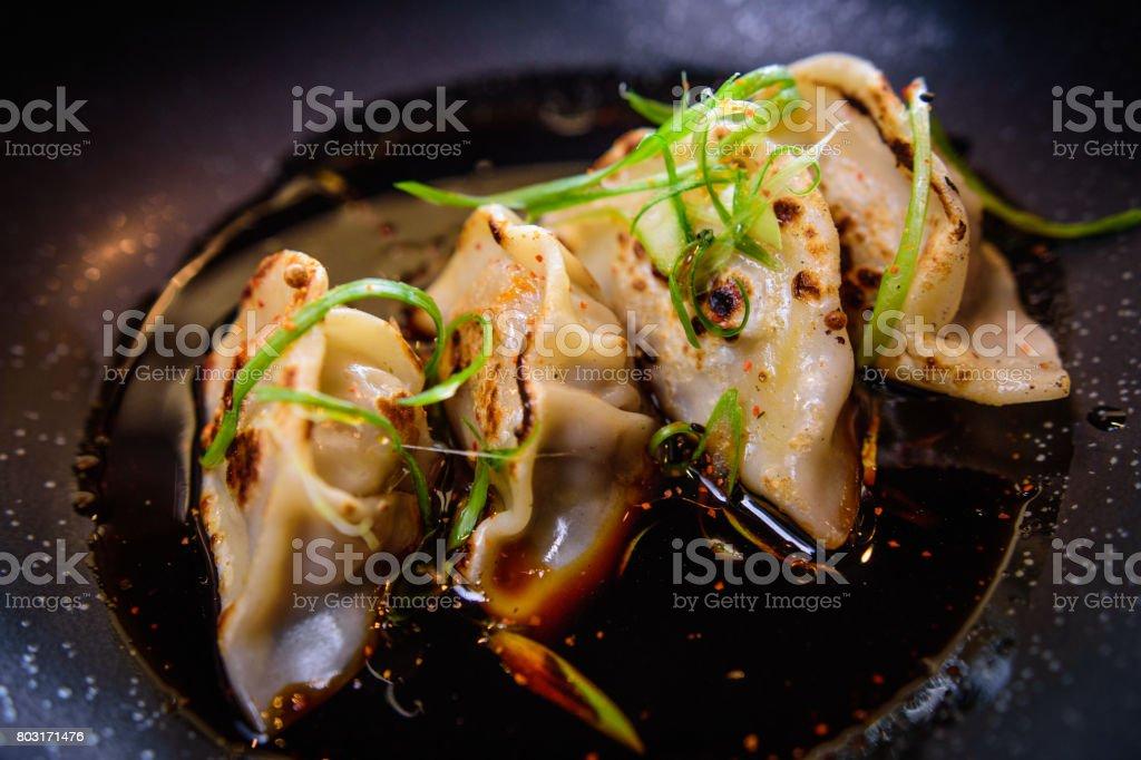 gyoza dumplings 2 stock photo