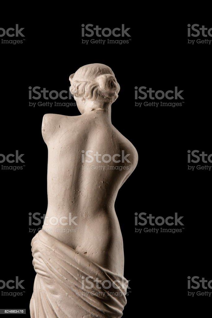 gypsum plaster sculpture of Venus stock photo
