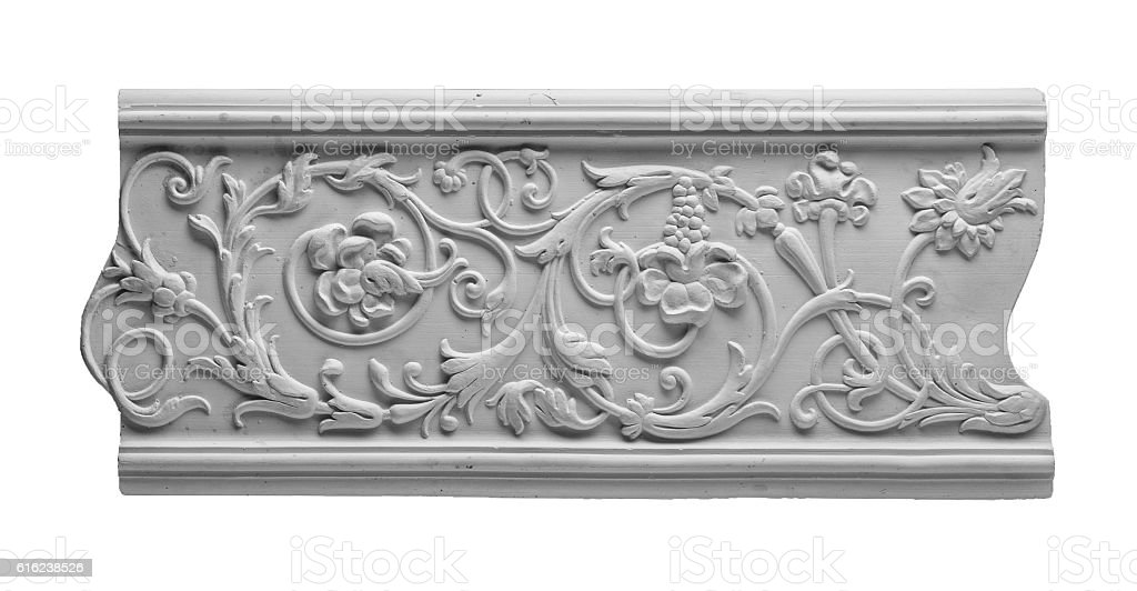 gypsum products, pattern, ornament on a black background stock photo