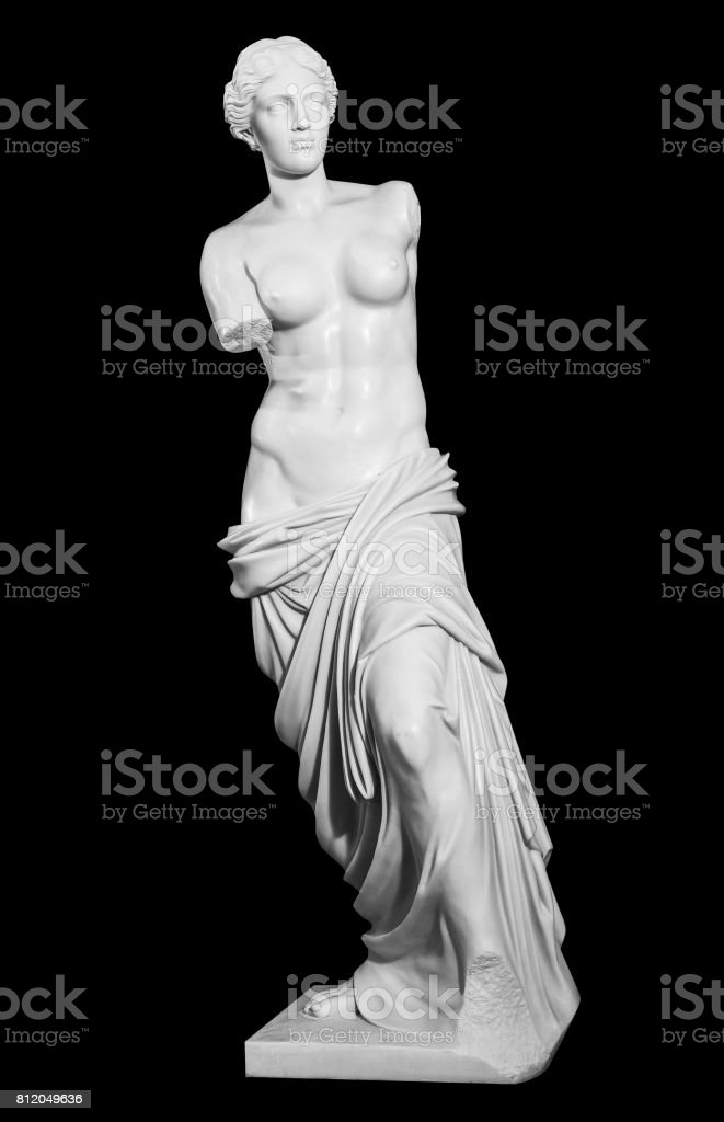 gypsum statue of a woman in a classic style stock photo