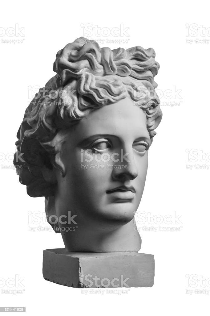 Statue de plâtre de la tête d'Apollon - Photo