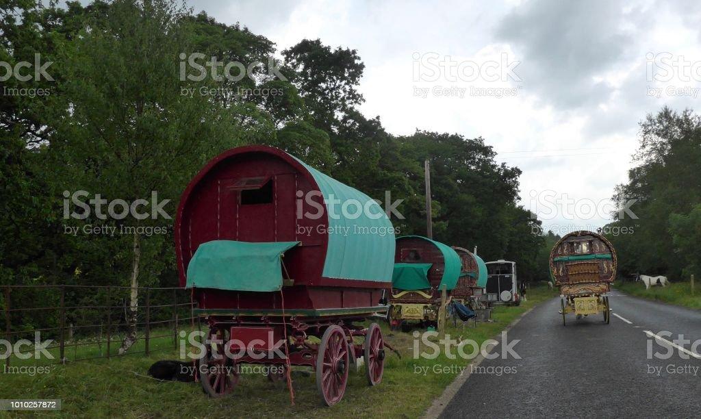 Gypsy 移動住宅 - アイリッシュ・トラヴェラーのストックフォトや画像 ...