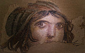 The Gypsy Girl Mosaic of Zeugma. The mosaic is 2000 years old. And made by unknown artist from the ancient time.\nthese mosaics are still in Gaziantep city of Turkey.
