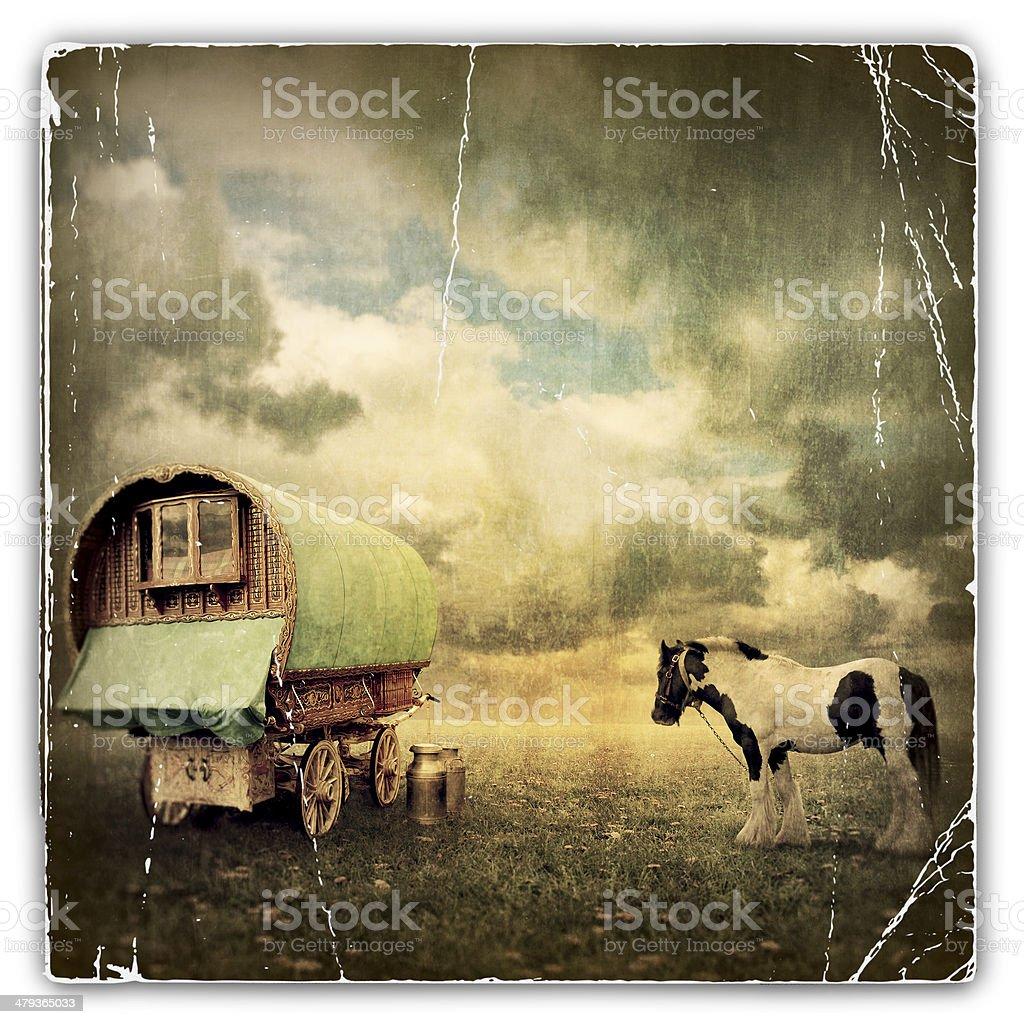 Gypsy Wagon, Caravan royalty-free stock photo