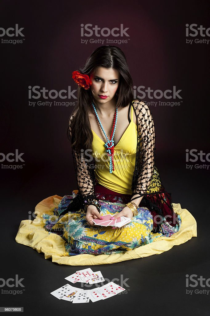 Gypsy woman tell fortunes royalty-free stock photo