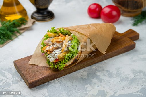 Gyros with chicken Greek cuisine
