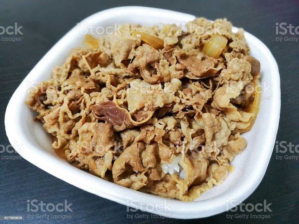 Gyudon rice beef – Foto