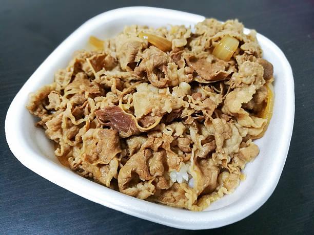 gyudon rice beef - 丼物 ストックフォトと画像