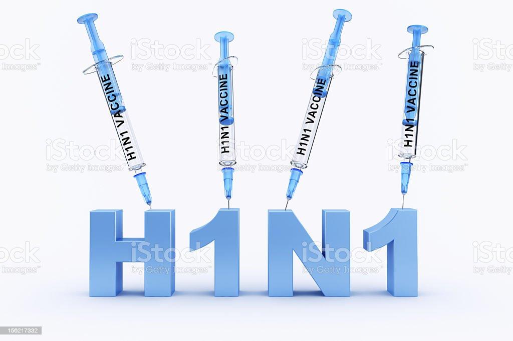 h1n1 vaccine syringe stock photo