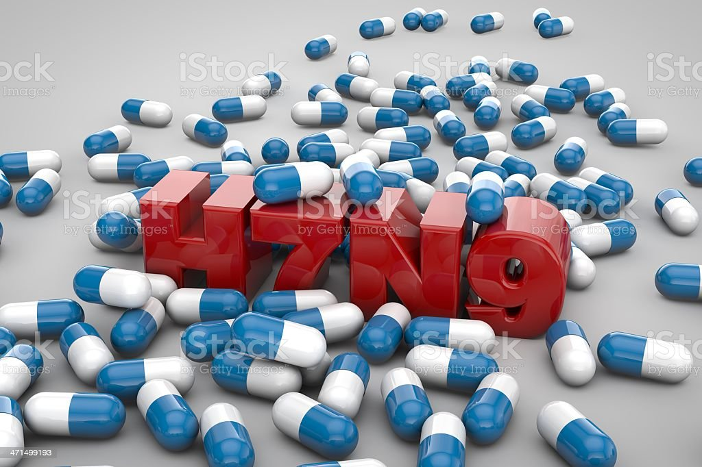 h7n9 and Capsule royalty-free stock photo