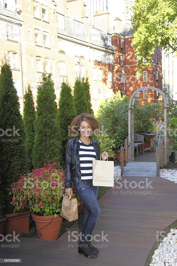 haappy female shopping royalty-free stock photo