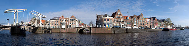 Haarlem skyline stock photo