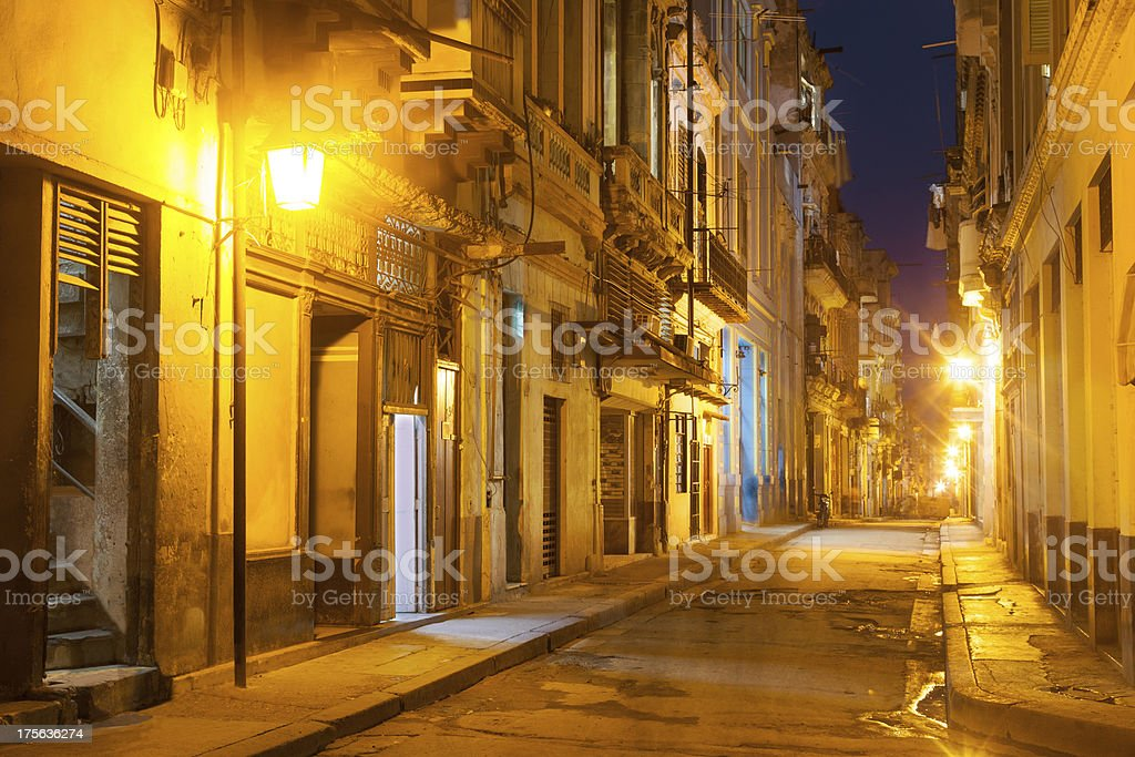 Habana Old City evening royalty-free stock photo