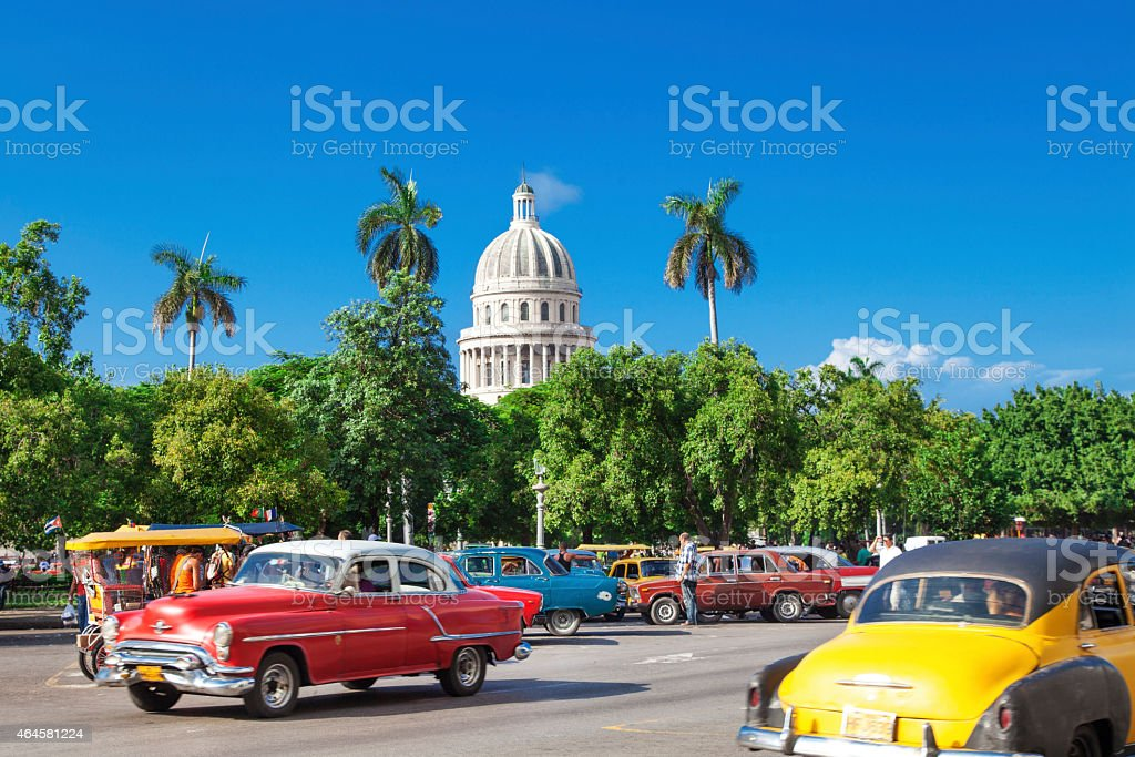 Habana Old City in Cuba stock photo