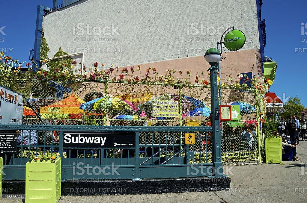 Habana Outpost Eco-Friendly, Trendy Restaurant, Fort Greene, Brooklyn, NYC royalty-free stock photo
