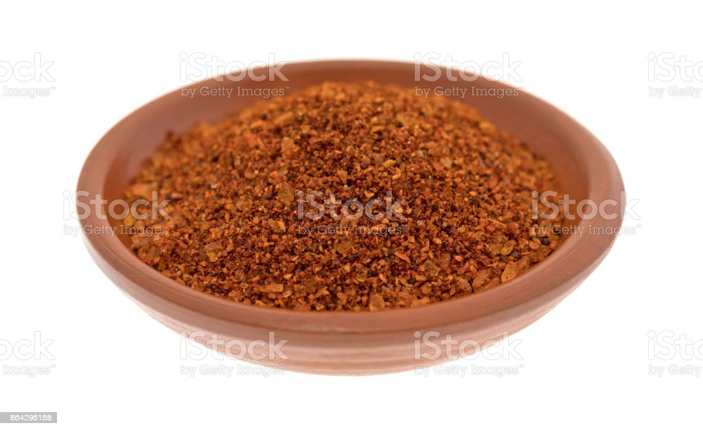 Habanero pepper seasoning in a small bowl royalty-free stock photo