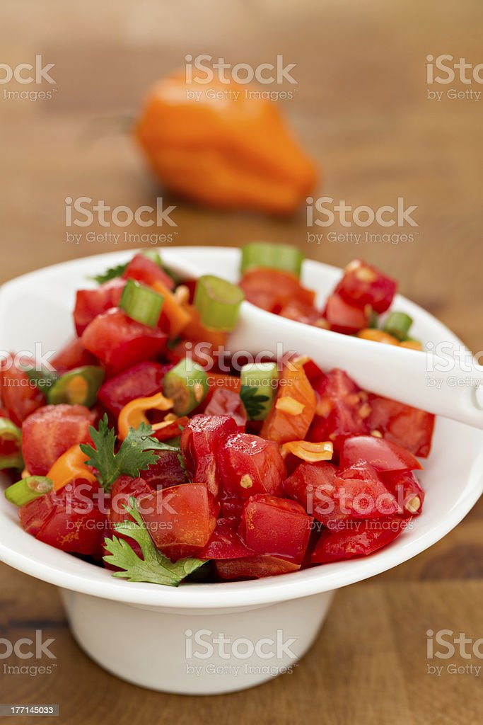 Habanero Salsa royalty-free stock photo