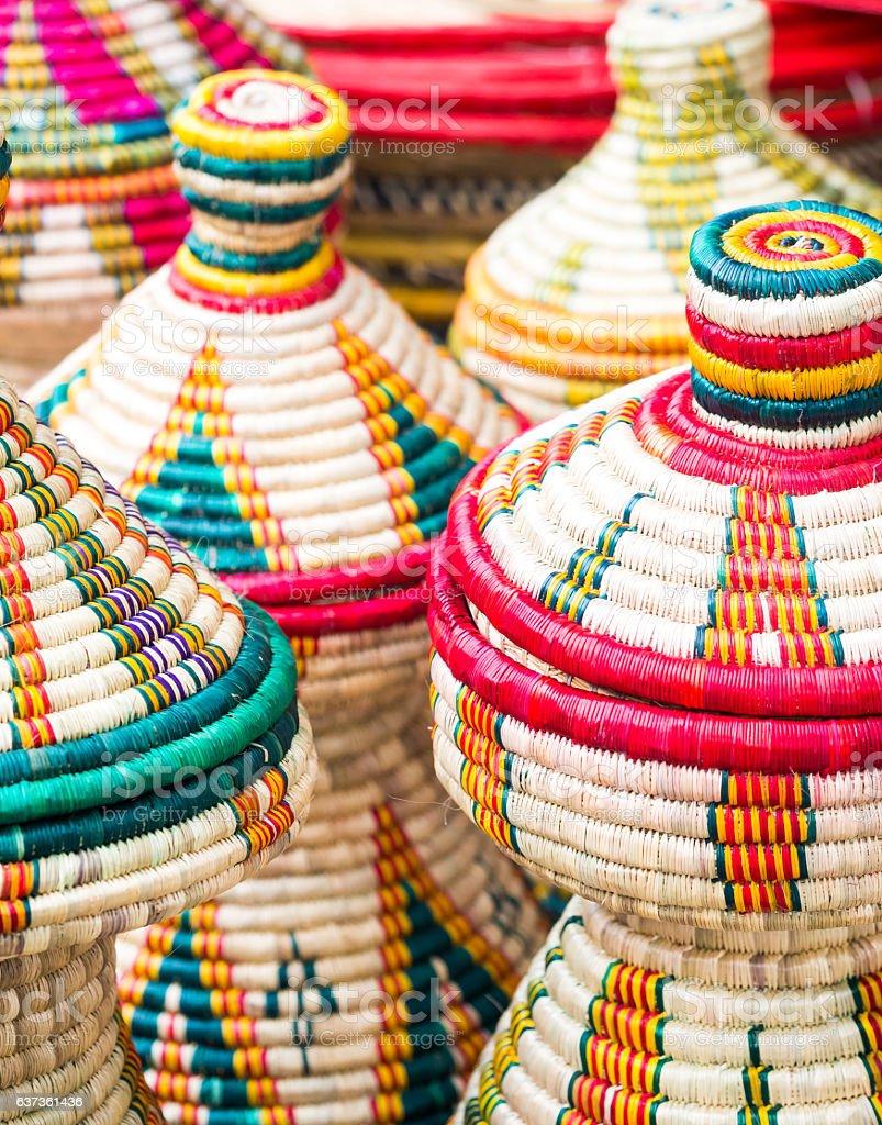 Habesha baskets stock photo