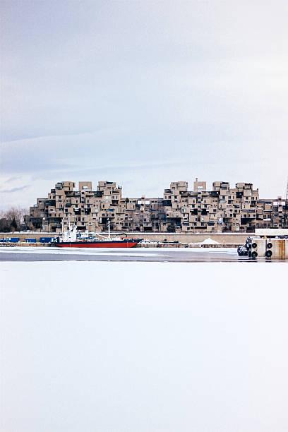 Habitat 67 in winter