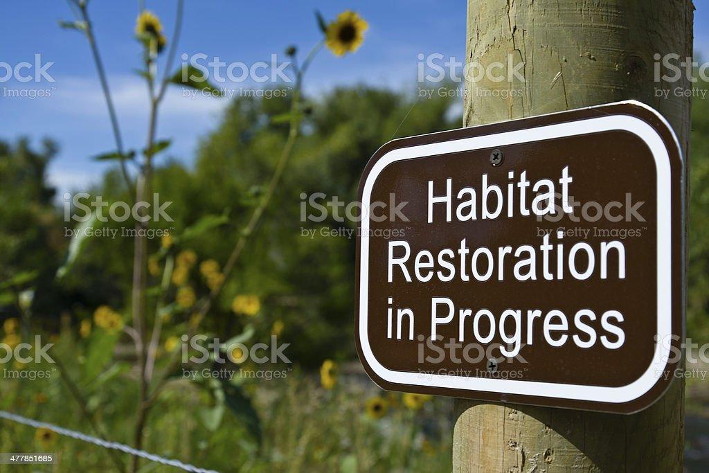Habitat Restoration royalty-free stock photo