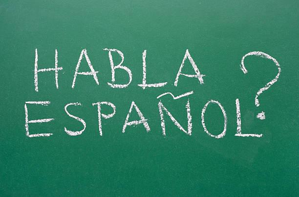 habla espanol-spanisch sprechen? - spanisch translator stock-fotos und bilder
