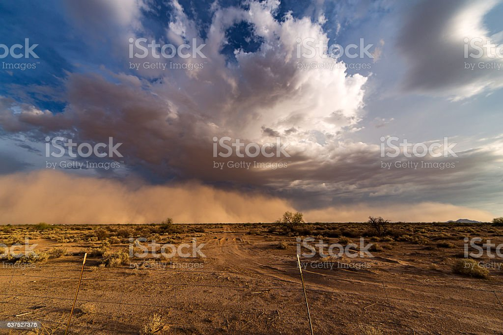 Haboob dust and sand storm stock photo