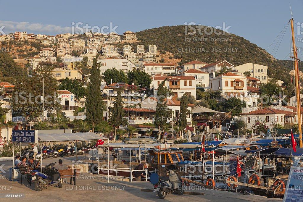 Habor of Kas, Antalya Province, Turkey royalty-free stock photo