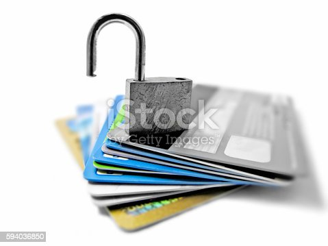 istock Hacked and vulnerable unsafe unsecured identity and financial theft concept 594036850