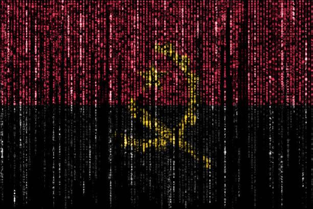 Hacked by Angola stock photo