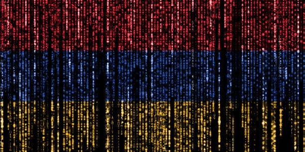Hacked by Armenia stock photo