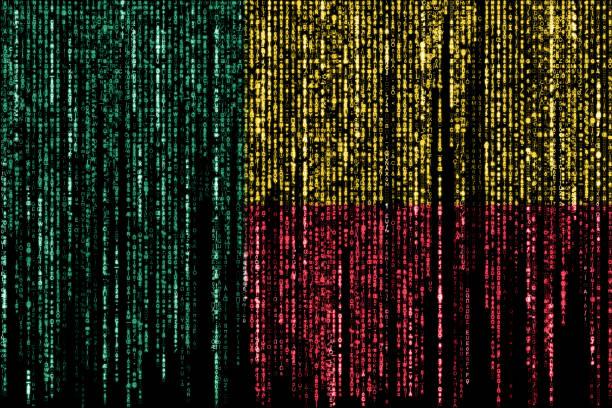 Hacked by Benin stock photo